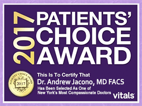 Dr Andrew Jacono Patient Choice Award