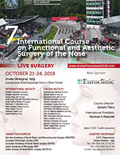 Dr. Jacono attends the 7th International Course on Functional and Aesthetic Surgery of the Nose, Imola, Italy, October 2018