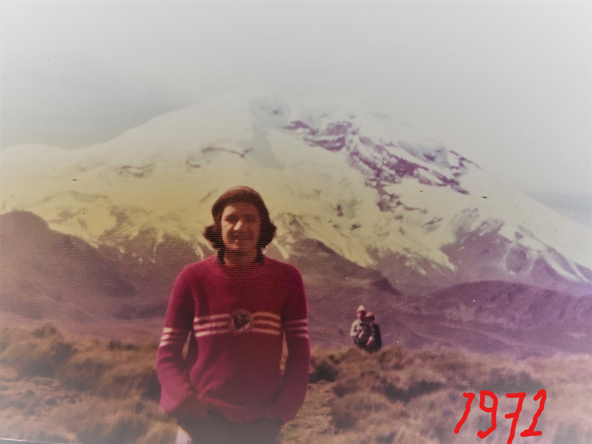 Dr. Mosquera in the Mountains of Chimborazo