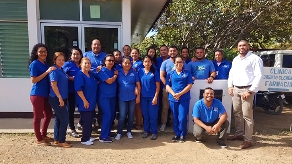 The Roberto Clemente Health Clinic team in Nicaragua