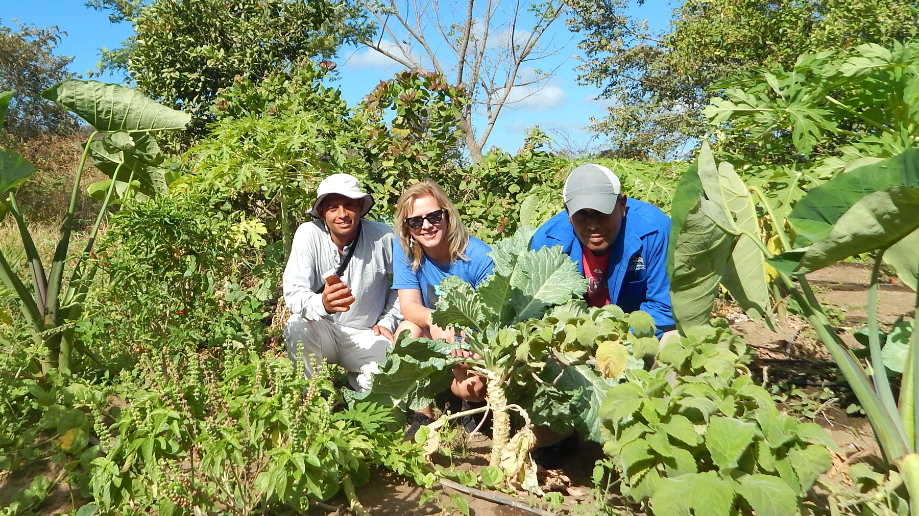 Julia and the organic garden team