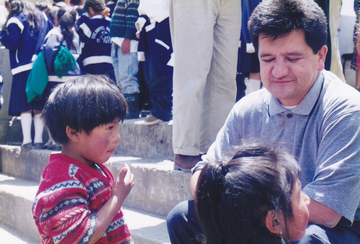 Mosquera with Children