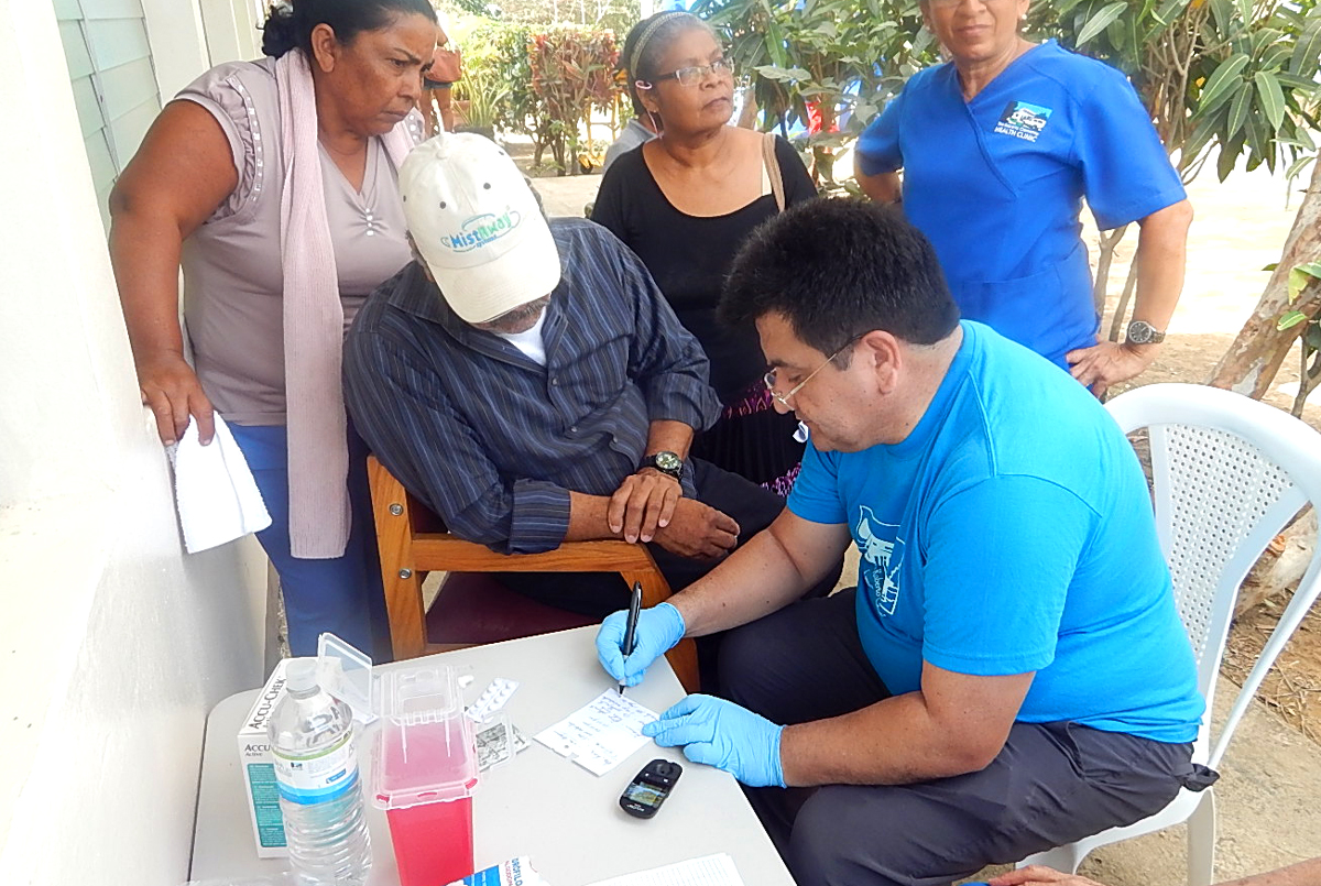 Mosquera's work with the Clinic's Diabetes Club