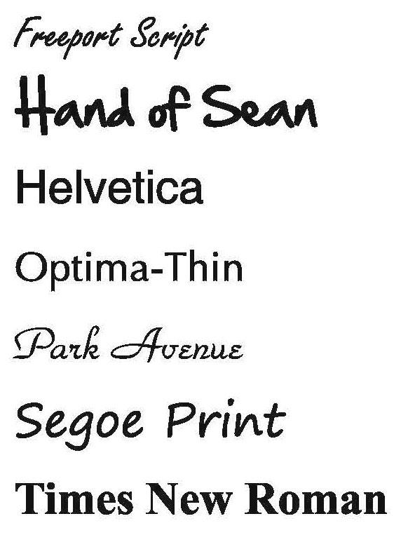 font options