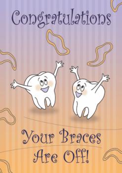 Congratulations Molars with Elastics DeBand Greeting Card