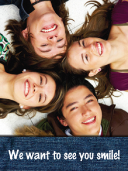 Teen We Want to See You Smile Recall Postcard