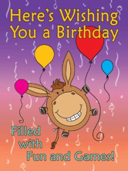 Here's Wishing Donkey Birthday Greeting Card