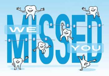 We Missed You Molars Missed Appointment Postcard
