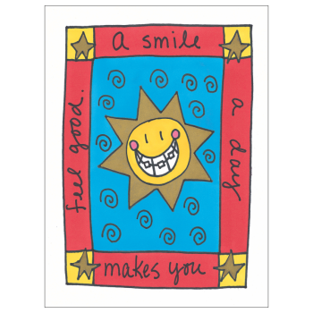 Smile A Day Greeting Card