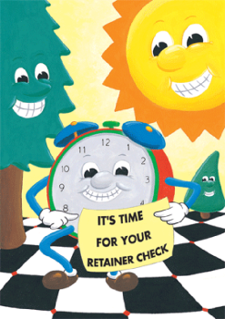 Alarm Clock Time for Appointment Retainer Postcard