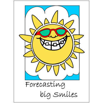 Forecasting Big Smiles - Portrait - Welcome Greeting Card