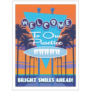 Welcome Surf Sign with Braces Greeting Card