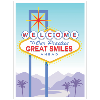 Great Smiles Road Sign Welcome Greeting Card