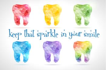 Sparkle Smile Postcard