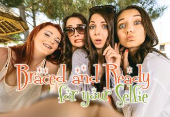 Braced for Selfie Laser Postcard