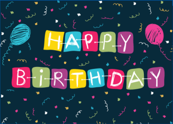 Happy Birthday Banner Laser Postcard