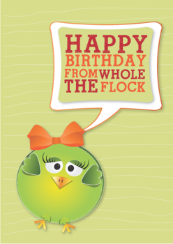 Happy Birthday from the Whole Flock Postcard