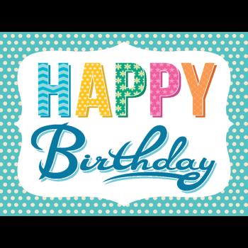 Happy Birthday Border Greeting Card