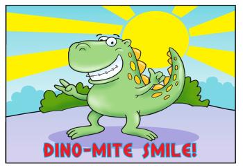 Dino-Mite Smile Recall Postcard
