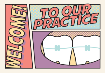 Retro Molars Welcome Greeting Card