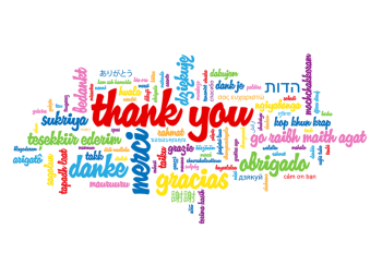 Word Cloud Thank You Greeting Card