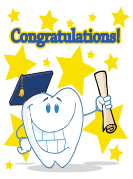 Graduation Molar DeBand Greeting Card
