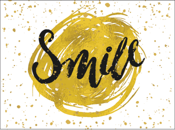 Gold Smile DeBand Greeting Card
