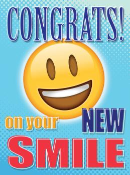 Congratulations Emoji DeBand Greeting Card