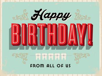 Mint Green Happy Birthday Greeting Card