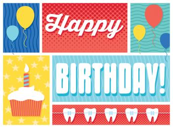 Cake and Braces Birthday Greeting Card