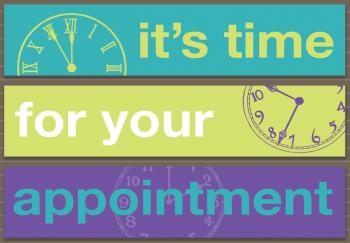 Purple Clock Retainer Postcard