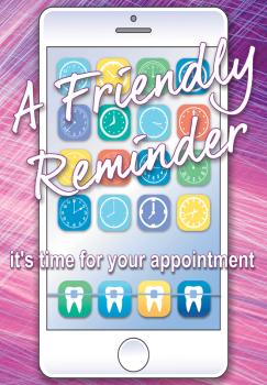 Friendly Reminder Phone Recall Postcard