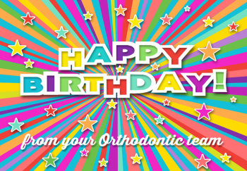 Colorful Stars Birthday Greeting Card