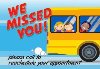 School Bus Missed Appointment Postcard