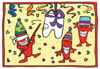 Chili Pepper Pinata Birthday Postcard