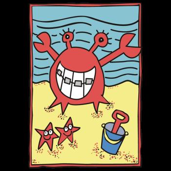 Star Fish On Beach Postcard