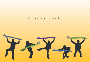 Braces Rock Greeting Card