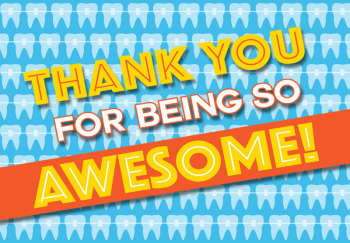 Being Awesome Thank You Greeting Card