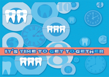 Time to Get Together Postcard