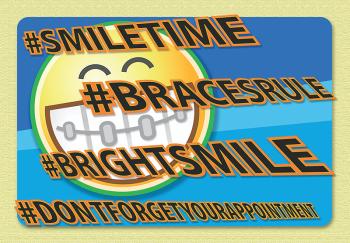 #BRIGHTSMILE Postcard