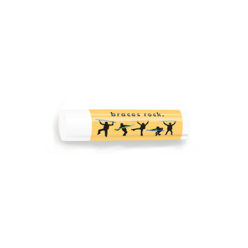 All Natural Lip Balm with Braces Rock Design