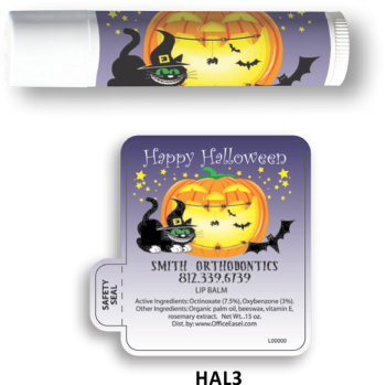 All Natural Lip Balm with Halloween Cat Design
