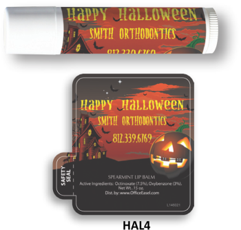 All Natural Lip Balm with Haunted House Design