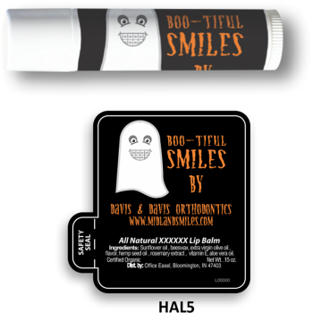 All Natural Lip Balm with Boo-tiful Smiles Design