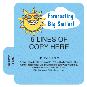 Mini Lip Balm with Forecasting Big Smiles Design