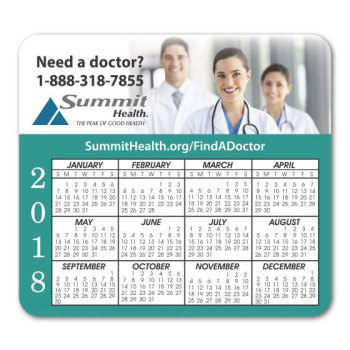"Full Color 3.5"" x 3.875"" Calendar Magnet"