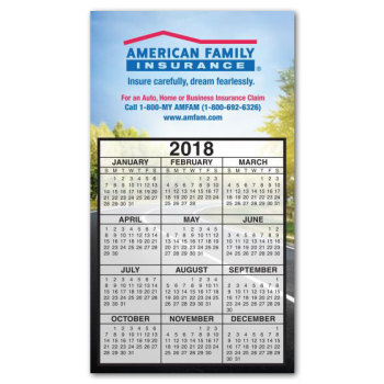 "Full Color 4"" x 7"" Calendar Magnet"