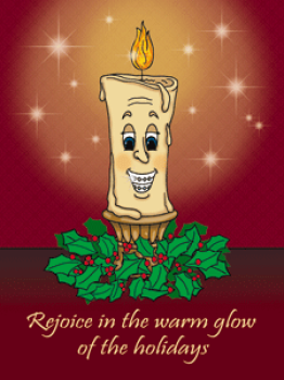 Candle Holiday Postcard