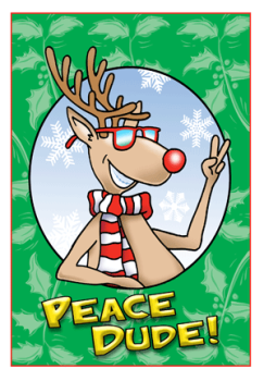 Peace Dude Holiday Greeting Card