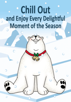 Chill Out Polar Bear Holiday Postcard